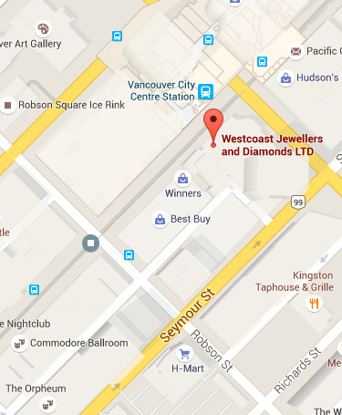 Westcoast Jewellers & Diamonds Location